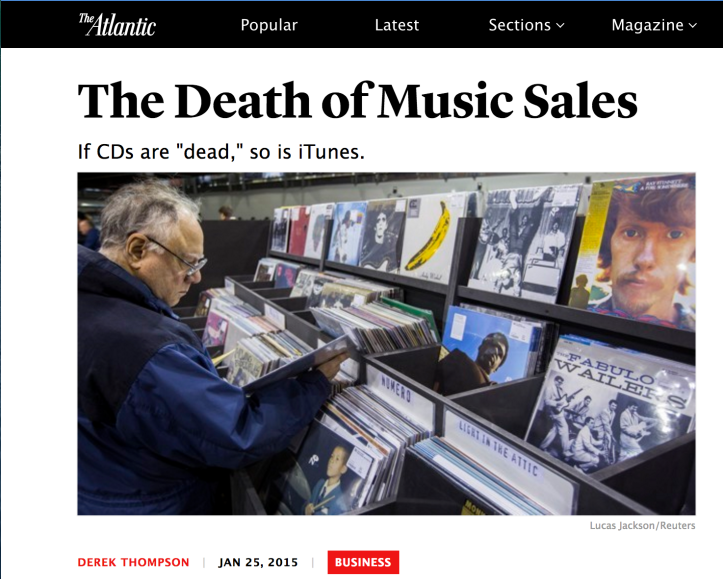 The Death Of Music Sales