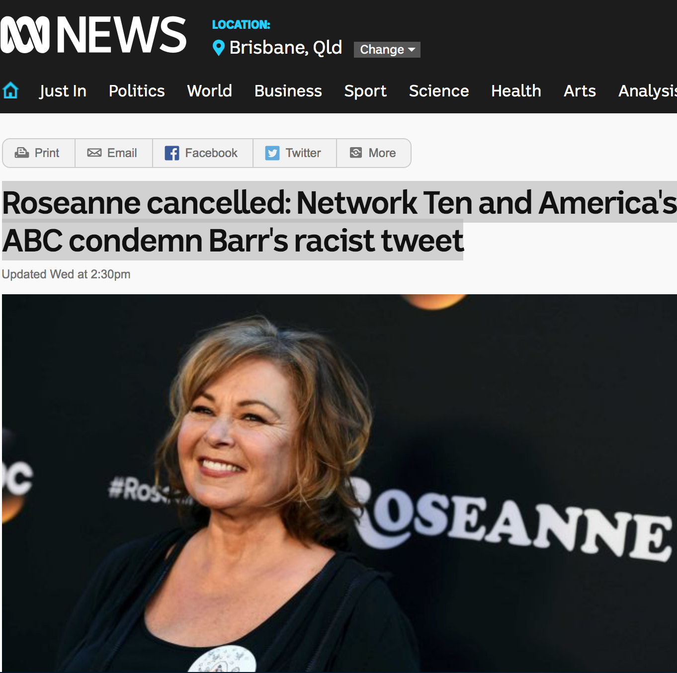 ABC News_Rosanne cancelled