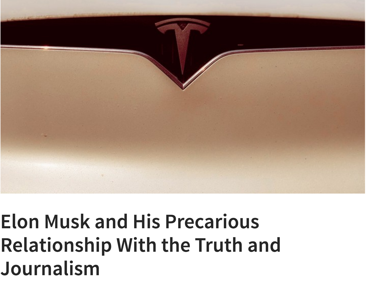 Elon Musk and Truth & Journalism