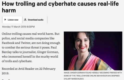 Trolling + cyberhate_Ginger Gorman